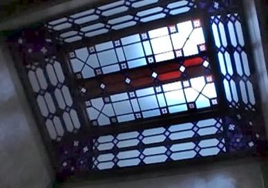 Jugenstildecke des Treppenhauses