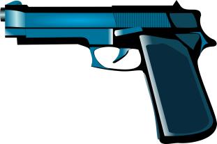 Blauer Revolver