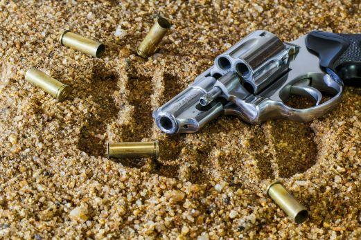 Titelbild Revolver am Strand