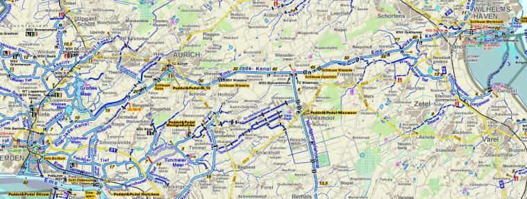 Ems-Jade-Kanal Karte