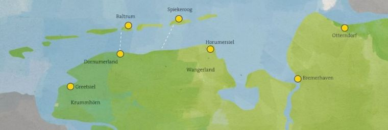 EWE Nordseelauf Etappen 2017