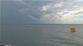 Inselschwimmen Warten
