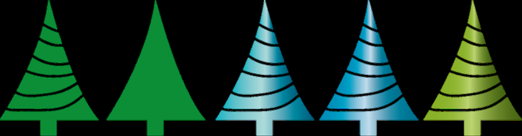 Tannenbaumreihe