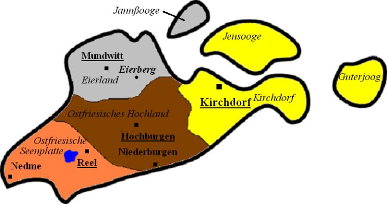 Ostfriesland_Landkarte