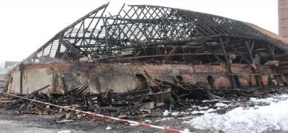 Vorher: Der Brand hat fast alles zerstört.