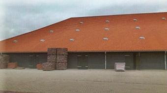 Nachher: Ofenhaus und Ringofen in Betrieb.