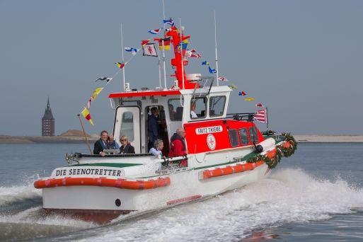 Taufe des Seenotrettungsbootes FRITZ THIEME der Deutschen Gesellschaft zur Rettung Schiffbruechiger (DGzRS) am 8. April 2018 auf Wangerooge.