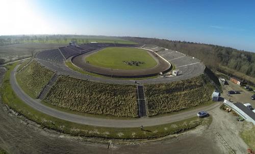 Motodrom Halbemond aus der Luftauf