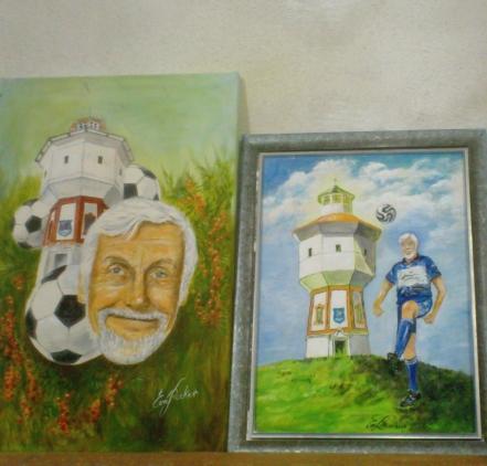 Erinnerungen an eine große Fußballkarriere. (Bilder: Eva Recker))