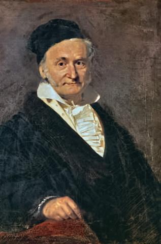 CF Gauss Gemaelde 1850 Christian Albrecht Jensen