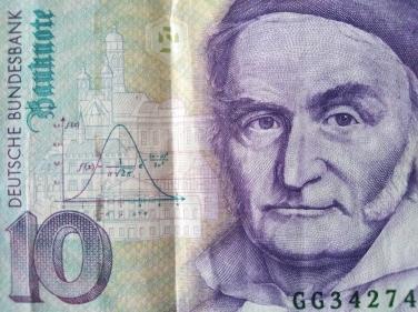 Zehn Mark Schein mit Gauss